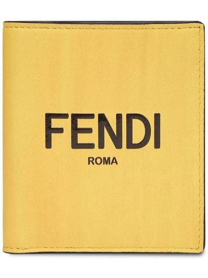 Желтый кожаный кошелек Fendi