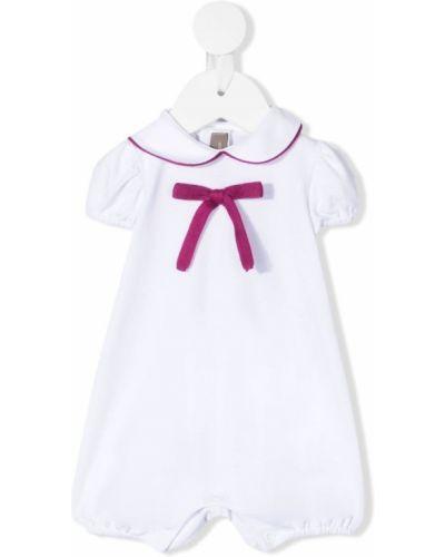 Biały kombinezon krótki krótki rękaw bawełniany Little Bear