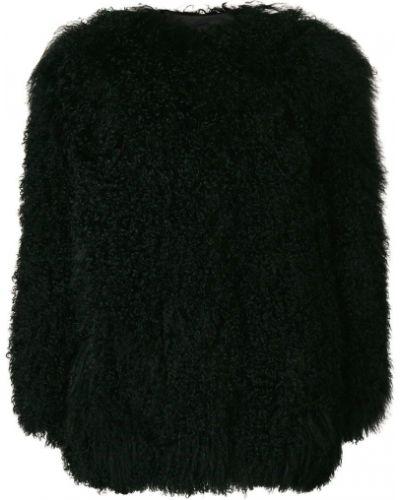 Коралловое длинное пальто с воротником Numerootto