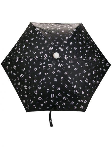 Włókienniczy srebro parasol Karl Lagerfeld