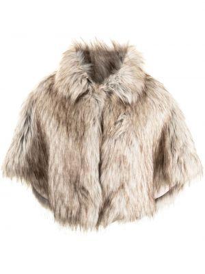 Klasyczna brązowa narzutka Unreal Fur