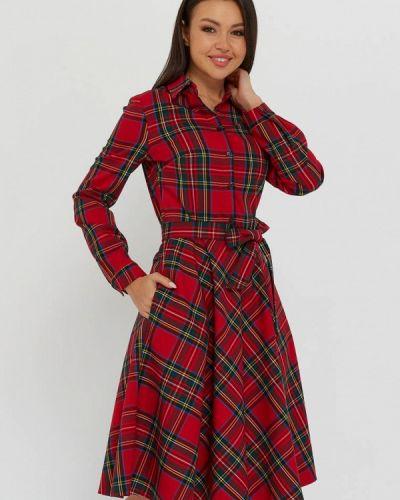 Красное платье-рубашка A.karina