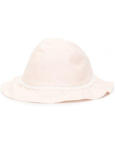 Ażurowy różowy kapelusz bawełniany Chloé Kids