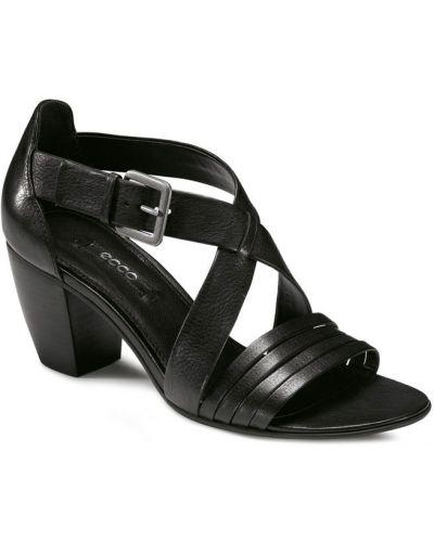 Босоножки на высоком каблуке черные на каблуке Ecco