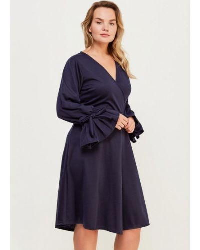 Платье весеннее синее Lost Ink Plus