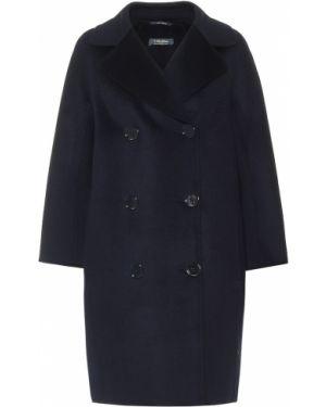 Коралловое шерстяное длинное пальто с декоративной отделкой 's Max Mara