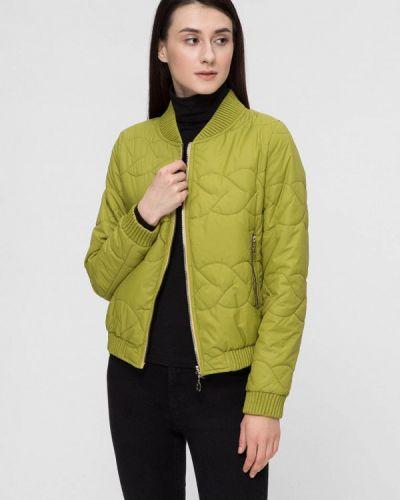 Утепленная куртка весенняя зеленая Victoria Bloom