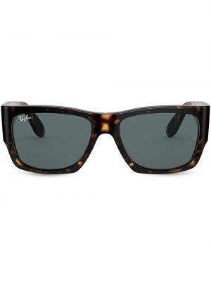 Серые солнцезащитные очки оверсайз металлические Ray-ban