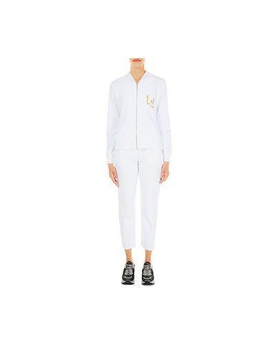 Костюмный хлопковый белый спортивный костюм Liu Jo