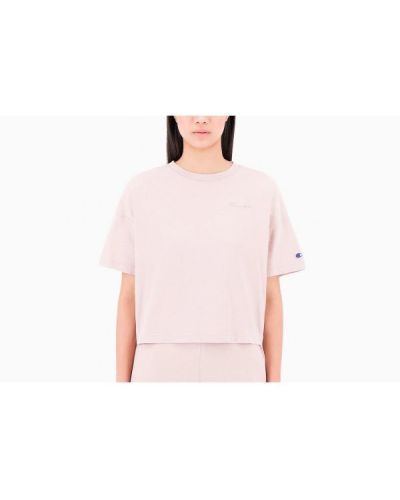 T-shirt bawełniana - różowa Champion