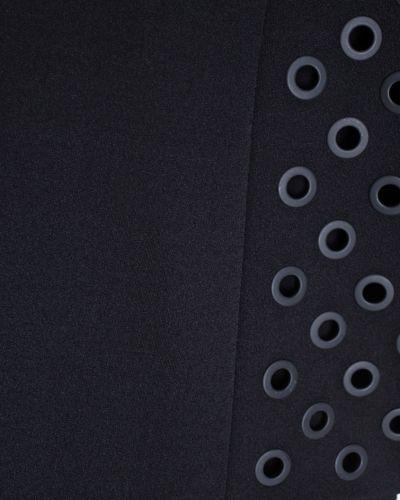 Асимметричное с рукавами черное платье макси Anthony Vaccarello