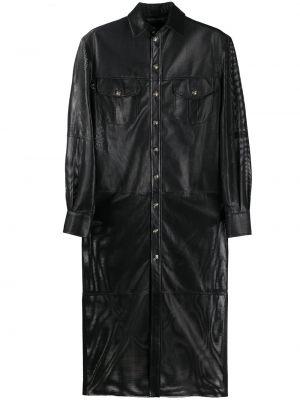 Классическое платье на пуговицах со вставками с воротником Simonetta Ravizza