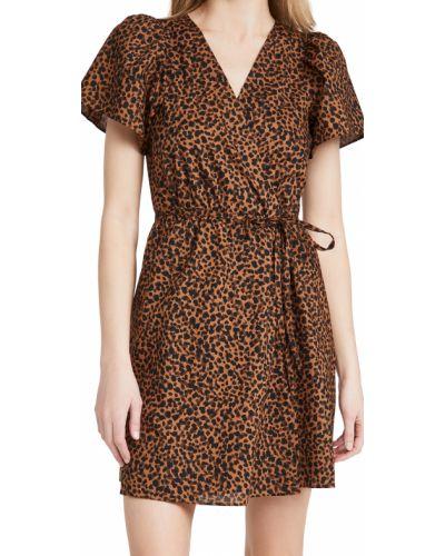 Хлопковое платье с короткими рукавами стрейч Madewell