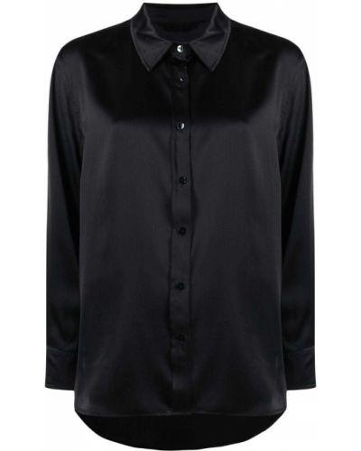 Шелковая черная рубашка с воротником Lautre Chose