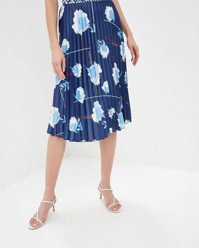 Плиссированная юбка итальянский синяя Rinascimento