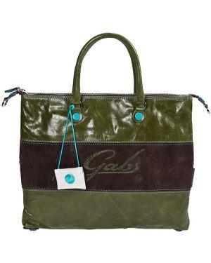 Кожаная сумка - зеленая Gabs