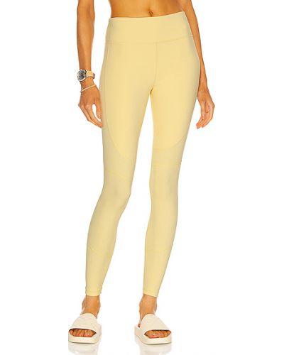 Żółte legginsy z nylonu Alala