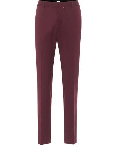 Классические шерстяные фиолетовые классические брюки Tod's