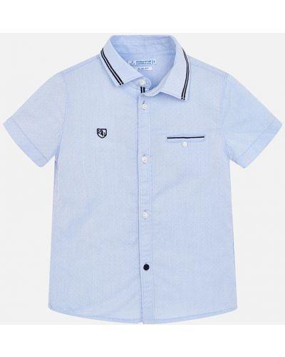 Рубашка с узором голубой Mayoral