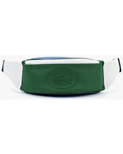 Зеленая поясная сумка Lacoste