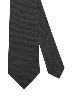 Złoty krawat - czarny Gucci