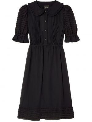 Черное платье миди с поясом с воротником Marc Jacobs
