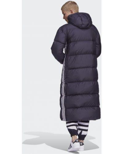Пуховик длинный - черный Adidas