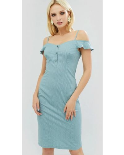 Платье мини весеннее зеленый Cardo