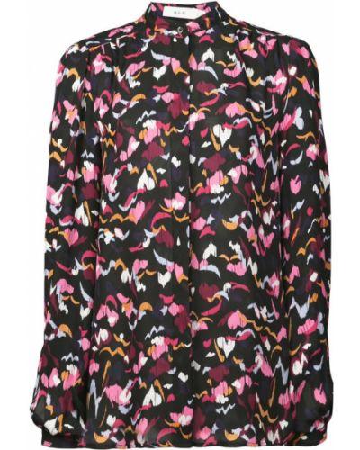 Блузка с цветочным принтом шелковая Alc
