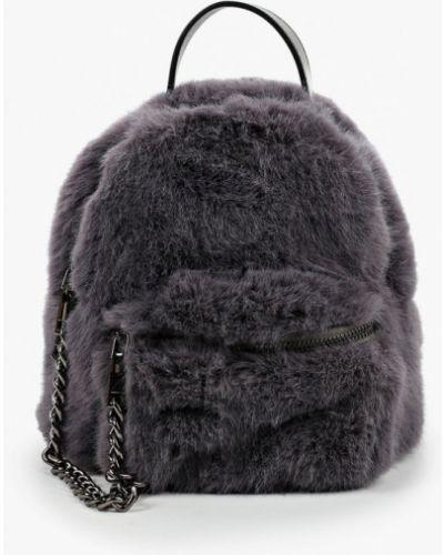 Серый рюкзак из искусственного меха Vitacci
