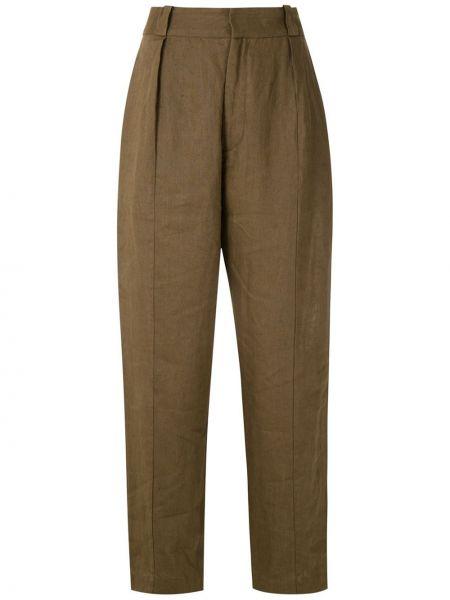 С завышенной талией зеленые брюки с карманами Osklen