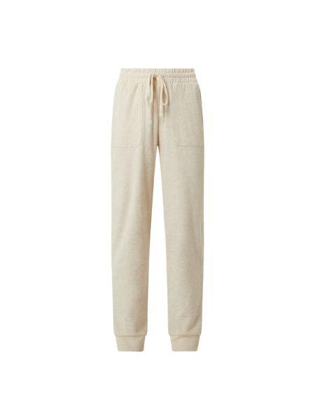 Spodnie dresowe bawełniane - beżowe Cream