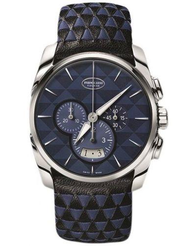 Czarny wodoodporny zegarek skórzany szafir Parmigiani Fleurier