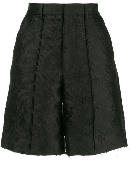 Нейлоновые черные шорты с карманами Shushu/tong