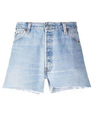 Джинсовые шорты винтажные - синие Re/done