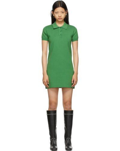 Хлопковое платье - зеленое Marc Jacobs