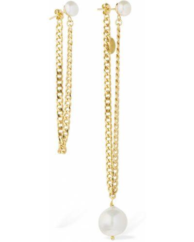 Złote kolczyki sztyfty perły pozłacane Magda Butrym