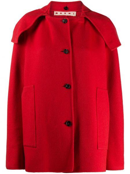 Кашемировое пальто - красное Marni