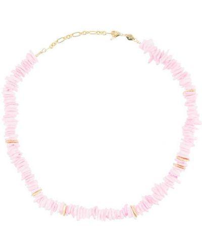 Różowy złoty naszyjnik z muszelek pozłacany Anni Lu