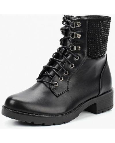 Кожаные ботинки осенние на каблуке Renda