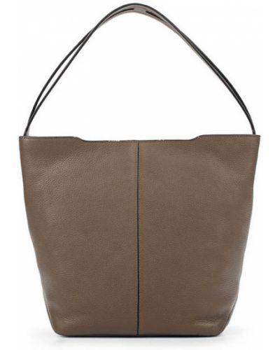 Кожаная сумка сумка-хобо коричневый Ecco