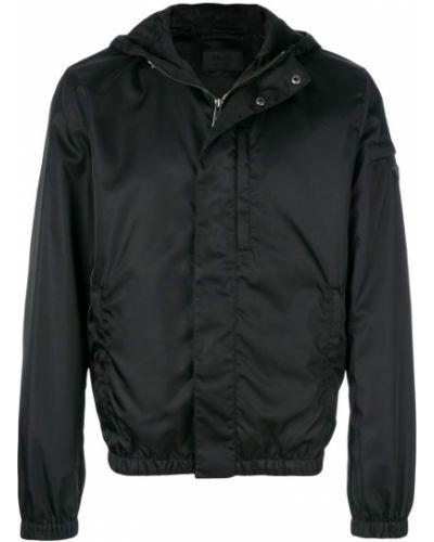 Длинная куртка с капюшоном на пуговицах Prada