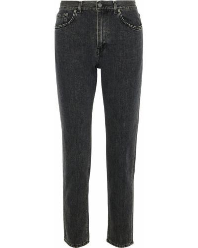 Szare jeansy bawełniane z paskiem Acne Studios
