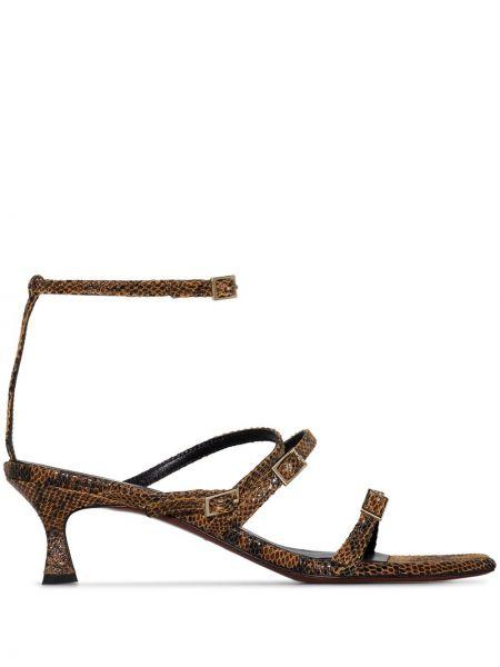 Коричневые кожаные сандалии Manu Atelier