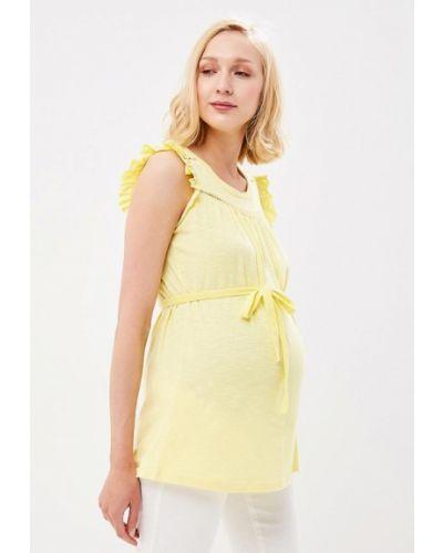 Желтый топ для беременных Mama.licious