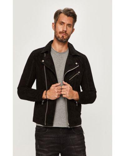 Кожаная куртка замшевая с капюшоном Jack & Jones