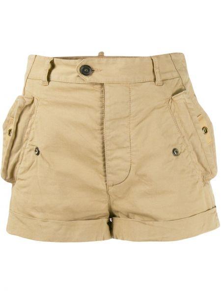 Короткие шорты в клетку с карманами Dsquared2