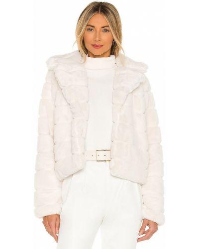 Белое пальто из искусственного меха с карманами [blanknyc]