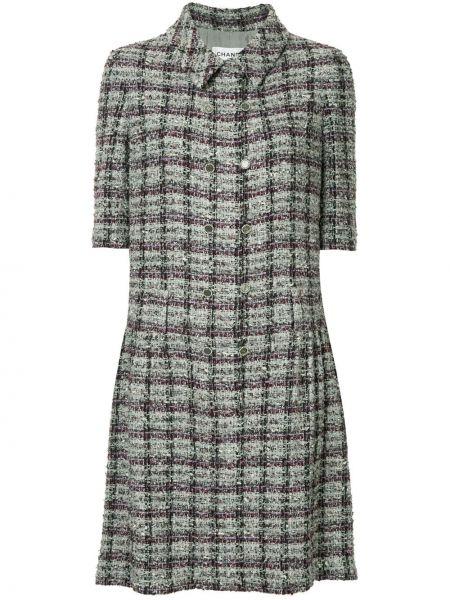 Платье мини серое винтажная Chanel Pre-owned