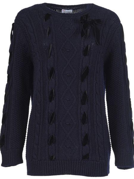 Синий свитер шерстяной Red Valentino